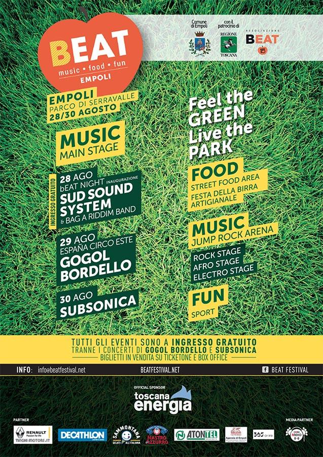 BEAT Festival Empoli Manifesto 2015