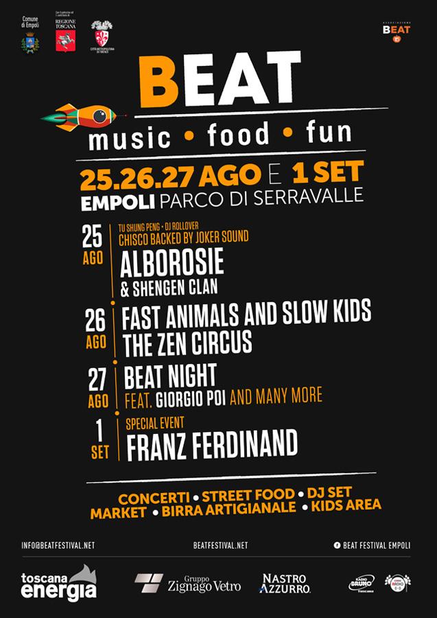 BEAT Festival Empoli Manifesto 2017